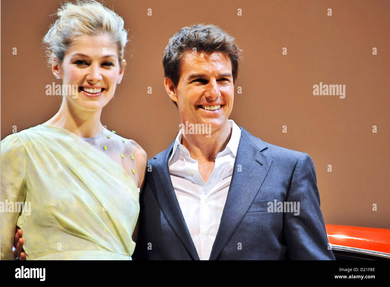 Actress Rosamund Pike and actor Tom Cruise attend the 'Jack Reacher' Japan Premiere at Tokyo International - Stock Image