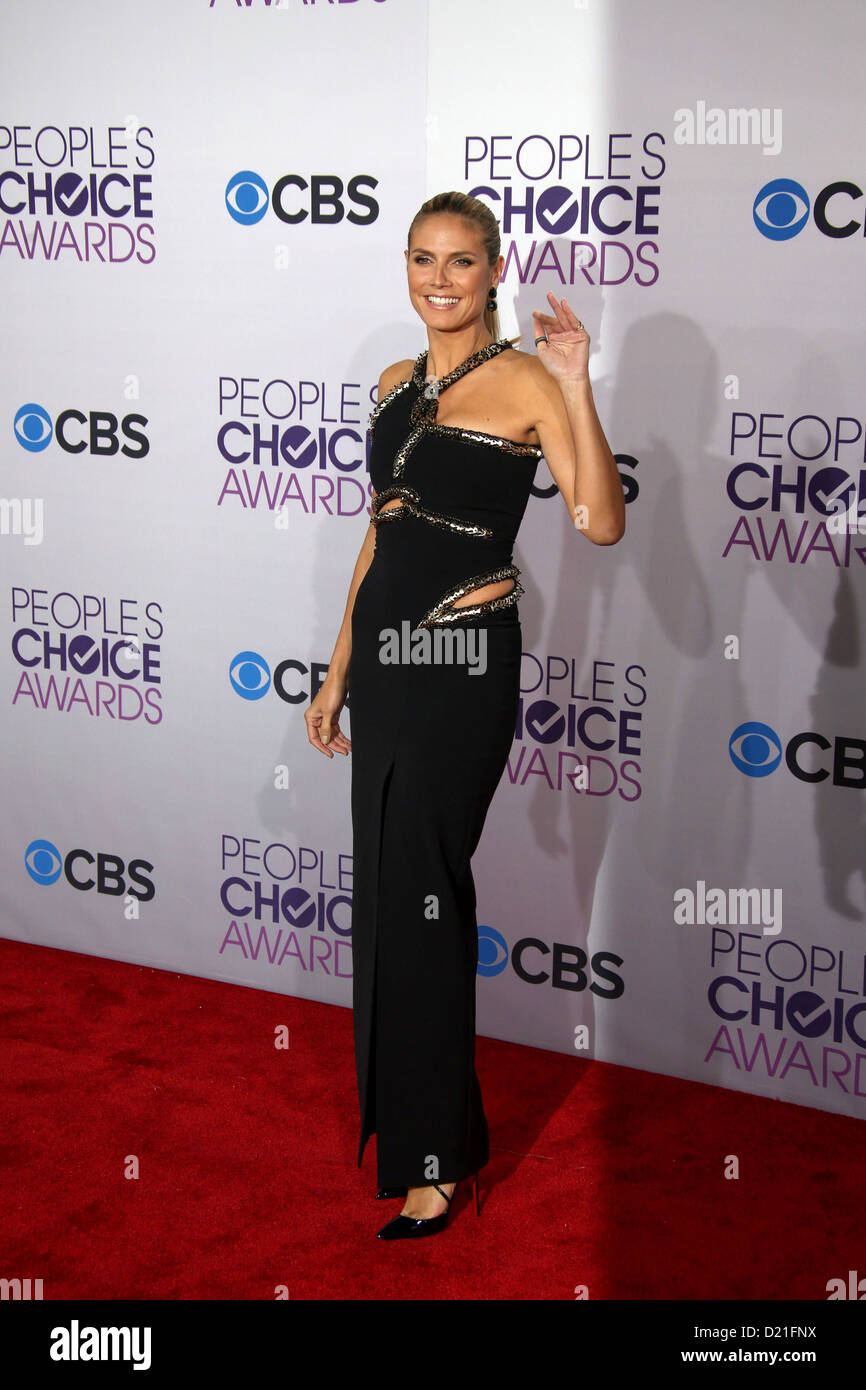 German Model / TV personality Heidi Klum arrives at the 39th Annual People's Choice Awards at Nokia Theatre - Stock Image