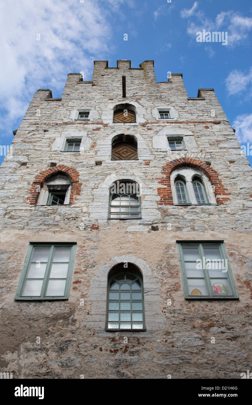 Fascade of the old pharmacy building, Visby, Gotland, Sweden, Europe - Stock Image