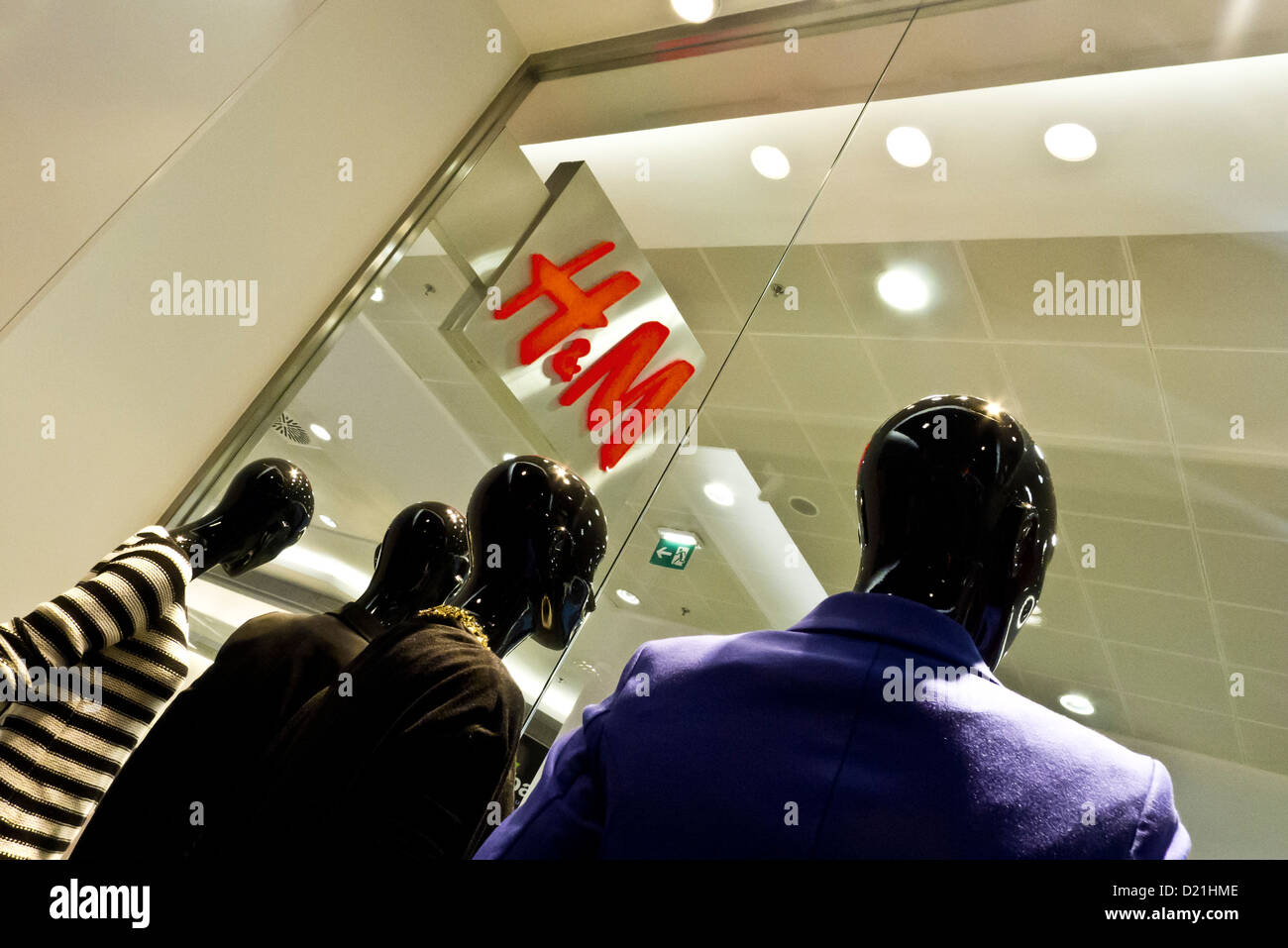 H&M store logo - Stock Image