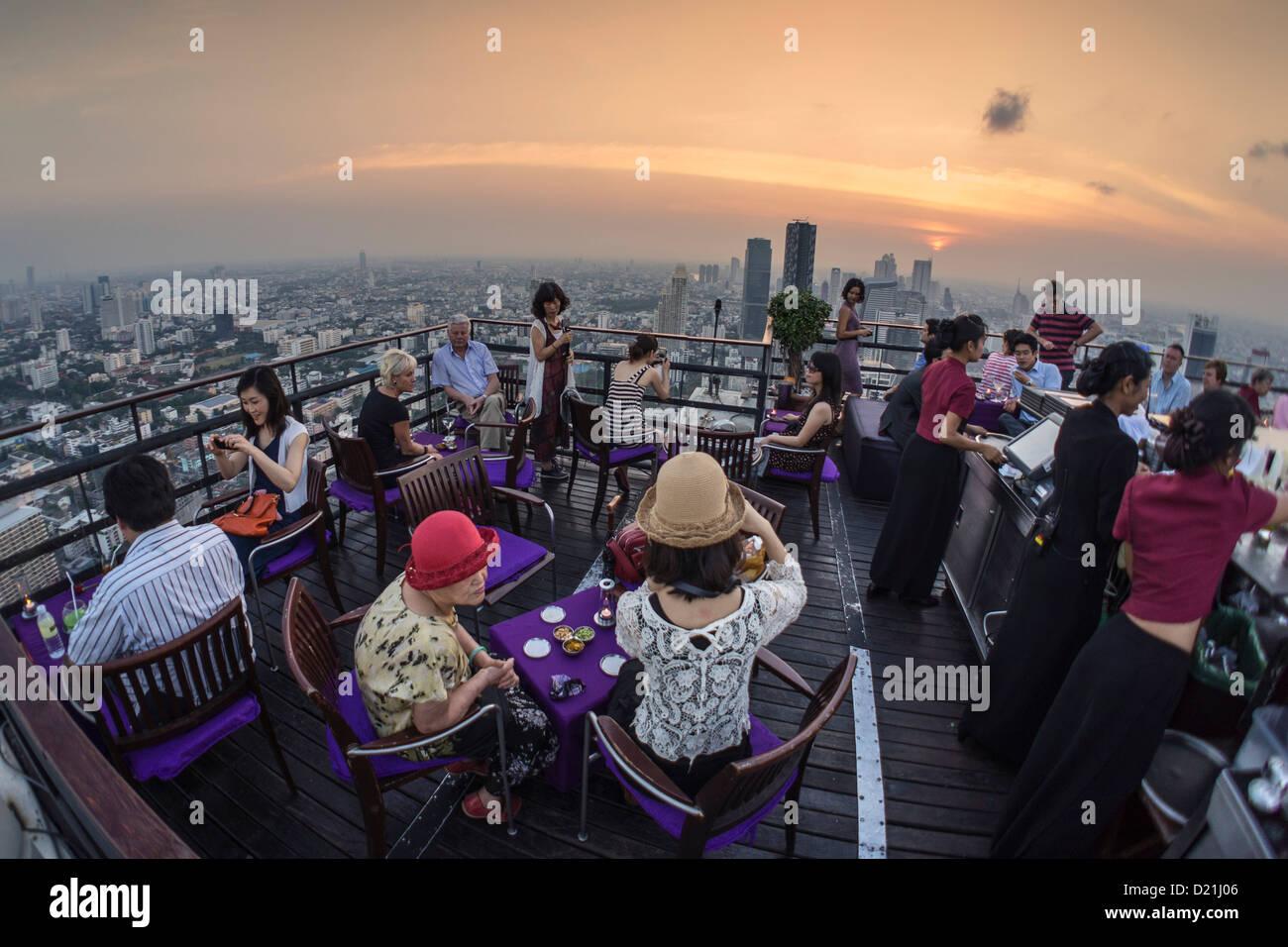 Banyan Tree Rooftop Vertigo and Moon Bar, Restaurant, Bangkok, Thailand - Stock Image
