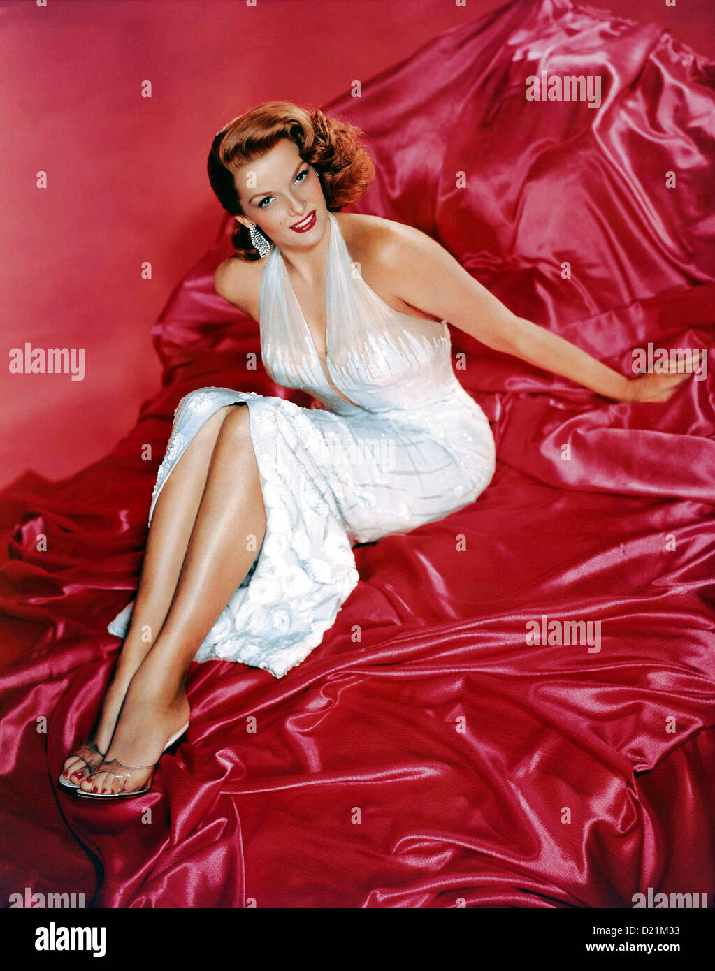JANE RUSSELL (1921-2001) US film actress in  1956 while filming The Revolt of Mamie Stover - Stock Image