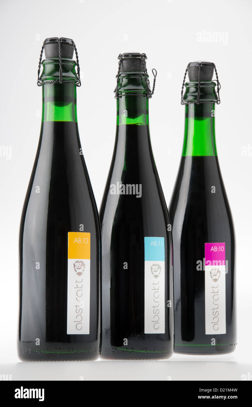 Brewdog special Abstrakt craft oak barrel aged ales - issued to shareholders in place of a cash dividend. AB:10, - Stock Image