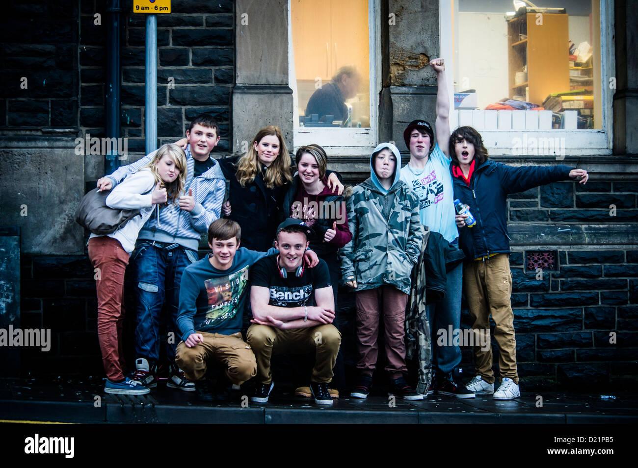Teen amazing group gang