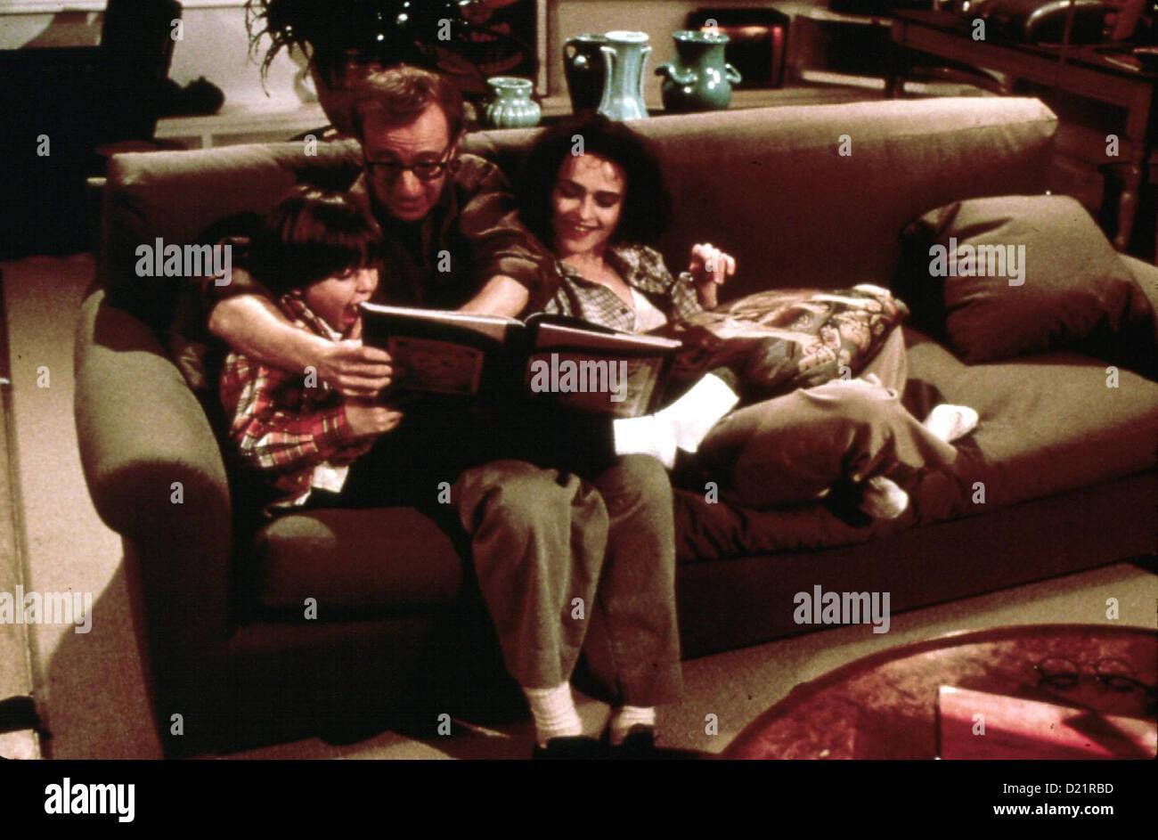 Geliebte Aphrodite  Mighty Aphrodite  Jimmy McQuaid, Woody Allen, Helena Bonham Carter Max (Jimmy McQuaid,l) beeindruckt - Stock Image