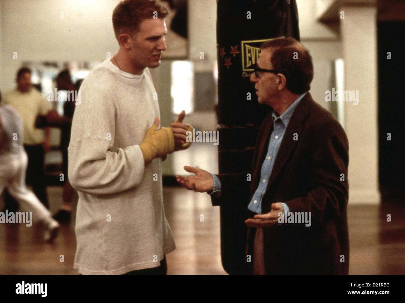 Geliebte Aphrodite   Mighty Aphrodite   Kevin (Michael Rapaport), Lenny (Woody Allen) *** Local Caption *** 1995 - Stock Image