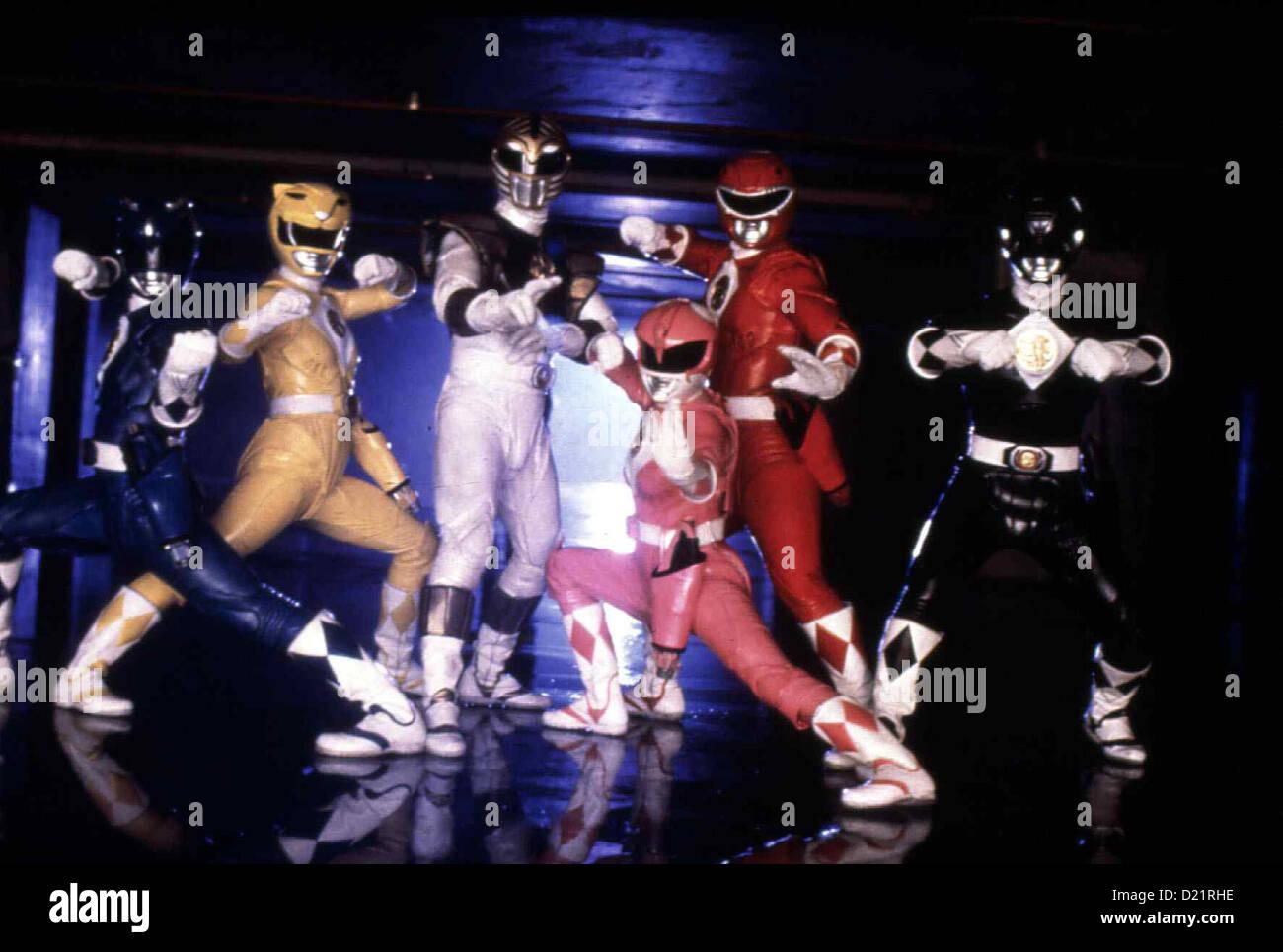 Power Rangers - Der Film  Mighty Morphin Power Rangers - Movie  David Yost, Karan Ashley, Jason David Frank, Amy - Stock Image