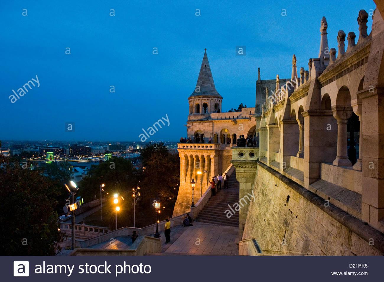 Hungary,Budapest,Fishermen's bastion - Stock Image