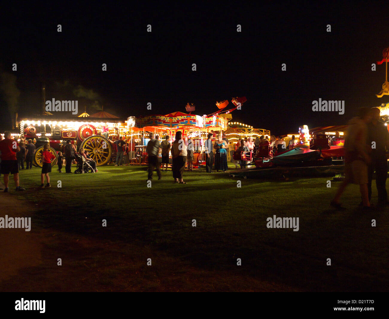 The old time steam fair at Lincoln steam and vintage rally - Stock Image