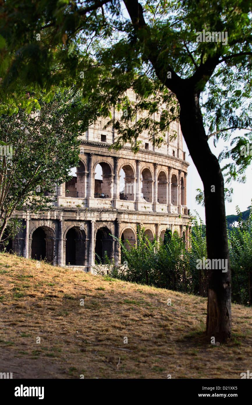 The Roman Colosseum Rome Italy - Stock Image