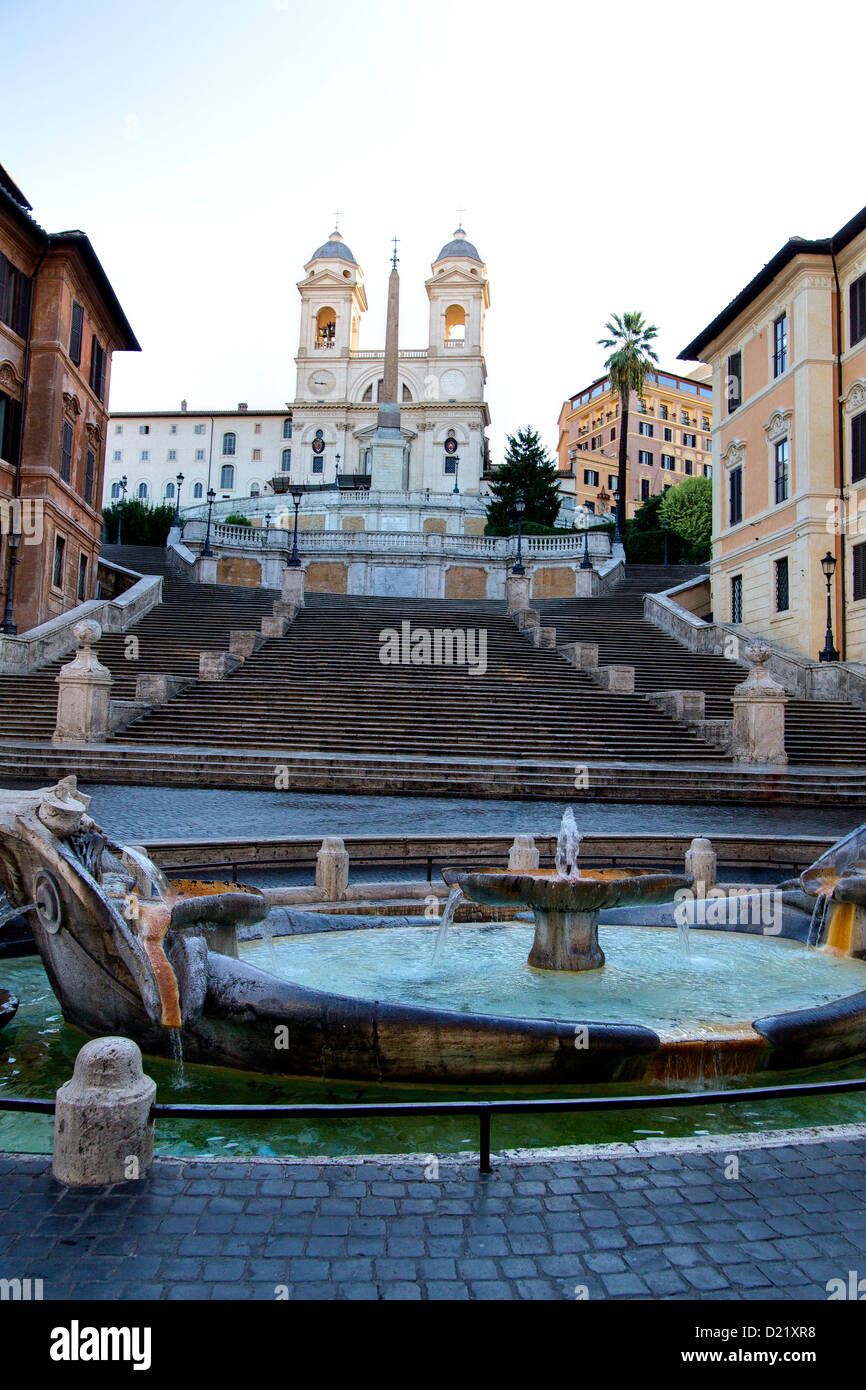 Piazza di Spagna Spanish steps Rome Italy - Stock Image