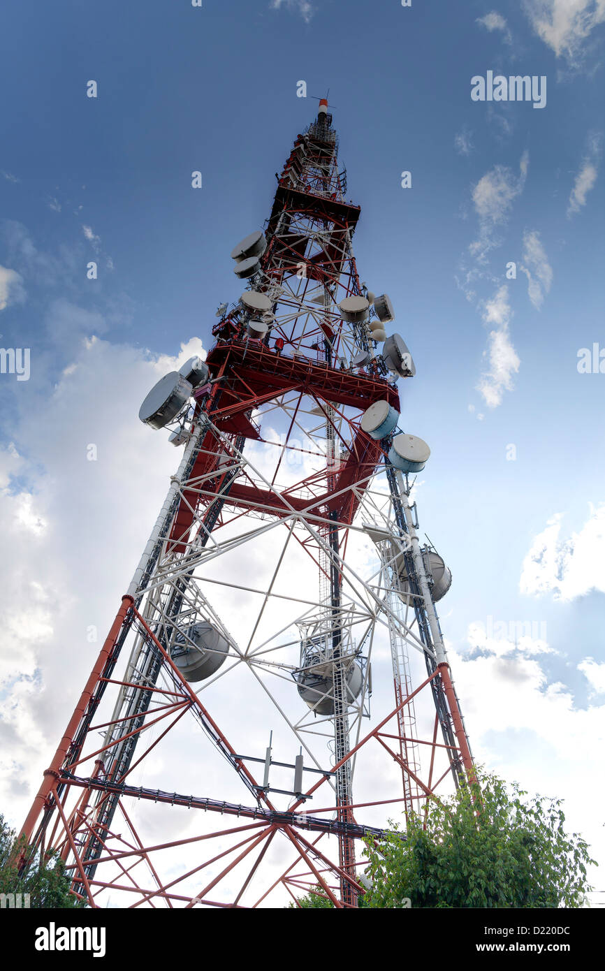 telecommunication tower - Stock Image