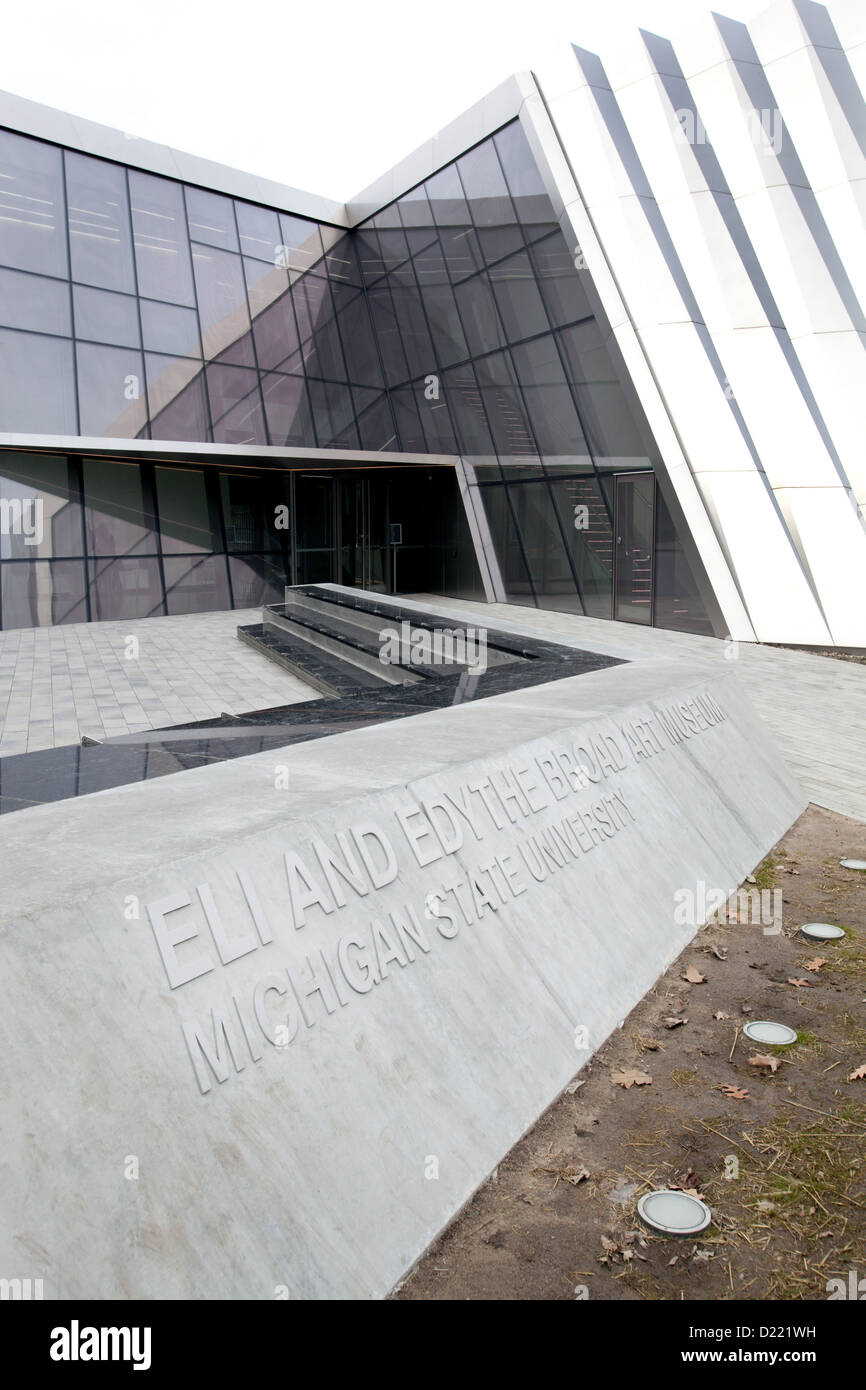 The Eli and Edythe Broad Art Museum at Michigan State University in East Lansing, Michigan, USA. Stock Photo
