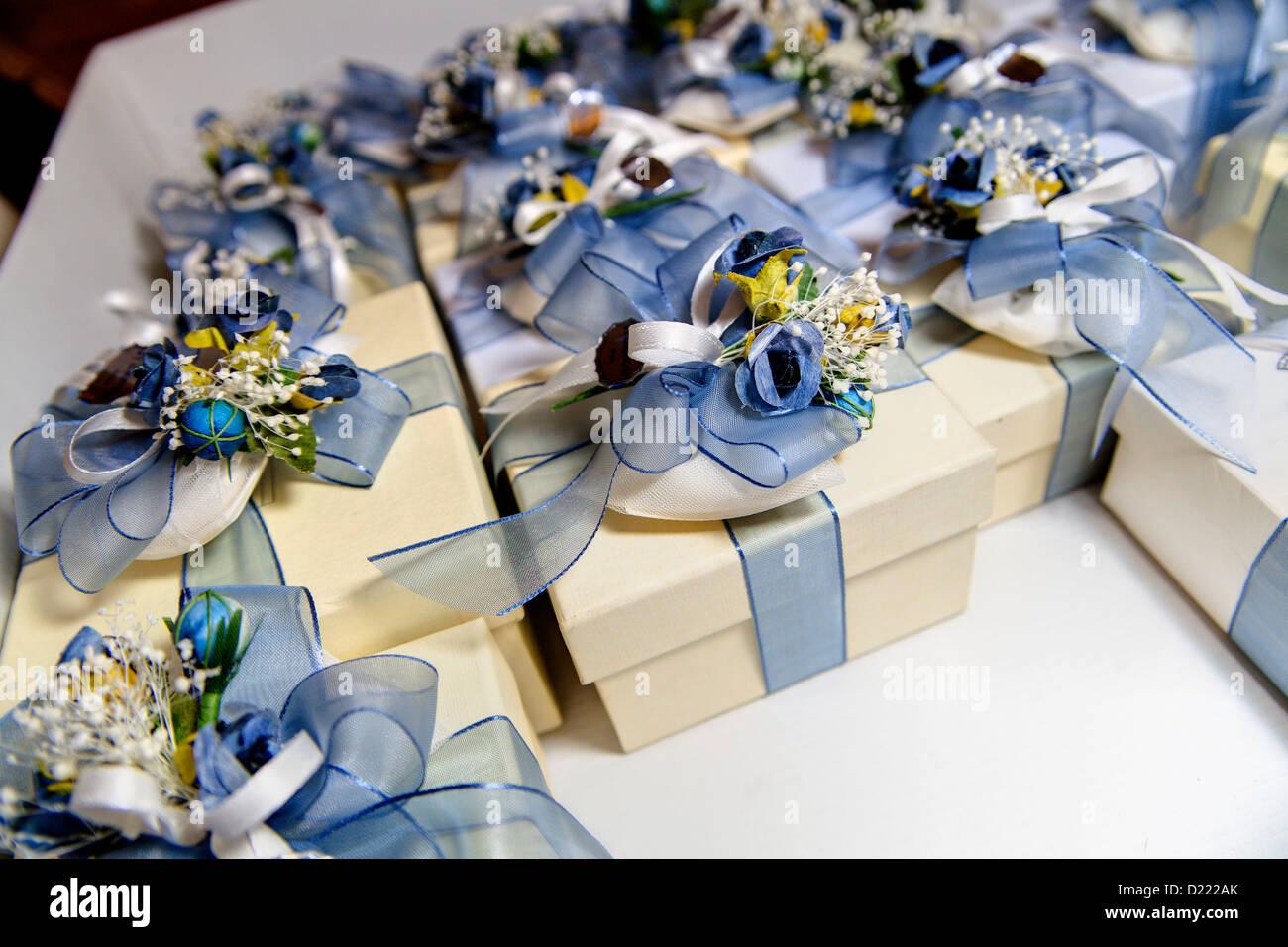 Wedding presents - Stock Image