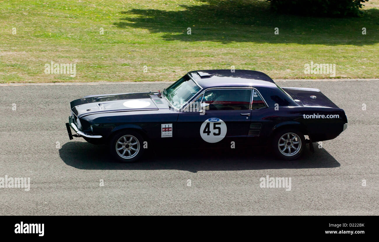 Roy edwards driving a 1967 ford mustang v8 in the sprint event at motorsport at the