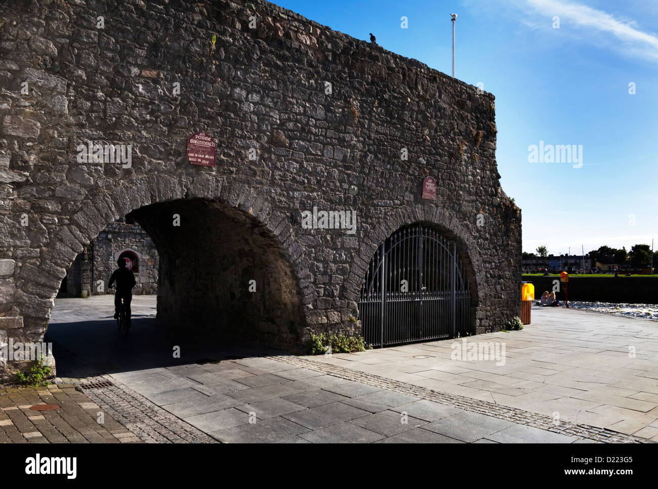 The Spanish Arch built 1584, Galway City, Ireland - Stock Image