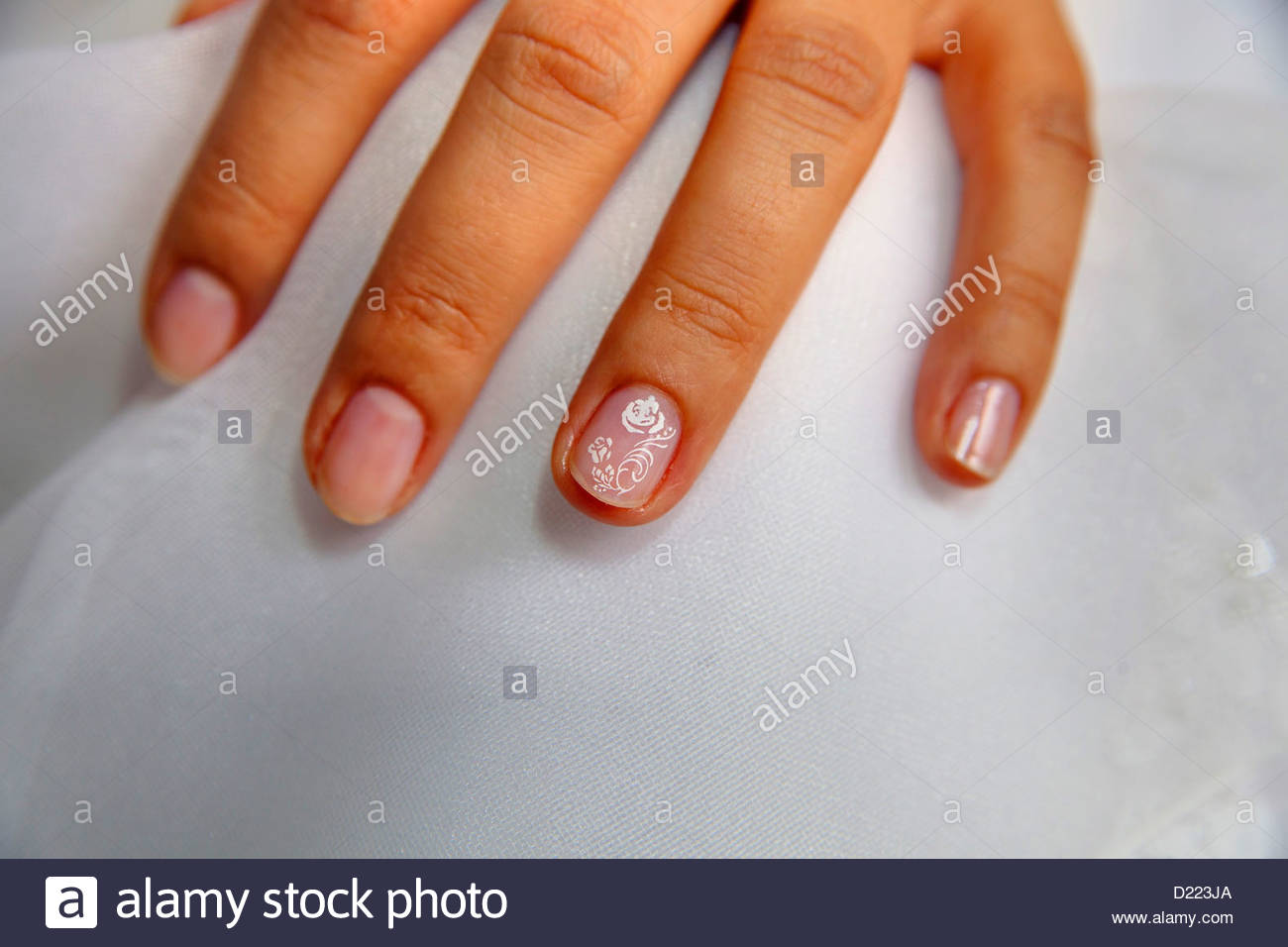 Fingernail design - Stock Image