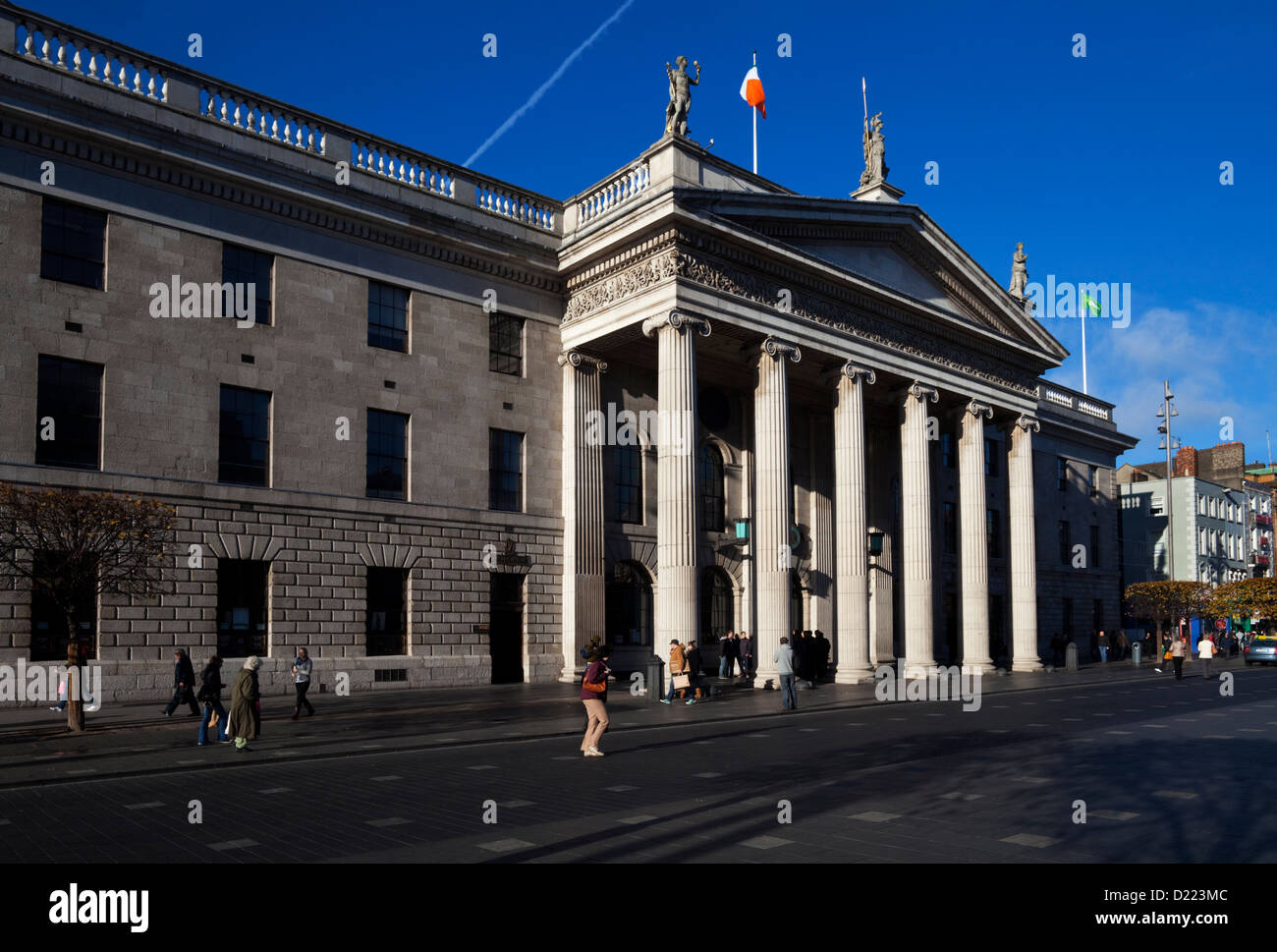 The General Post Office (GPO) in O'Connell Street in Dublin, Ireland. - Stock Image