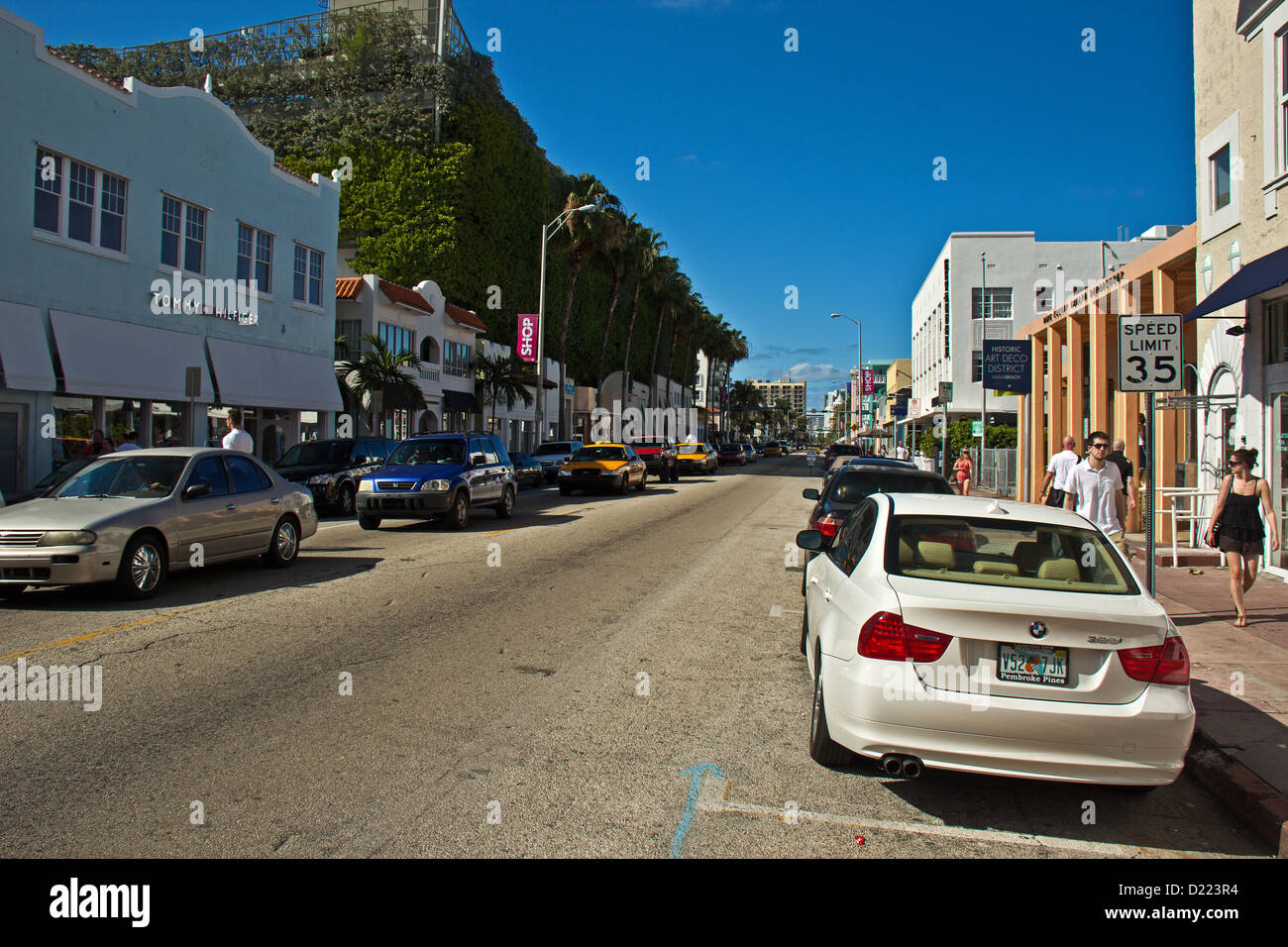 Collins Avenue, Miami Beach District, Miami, Florida, United States Stock Photo
