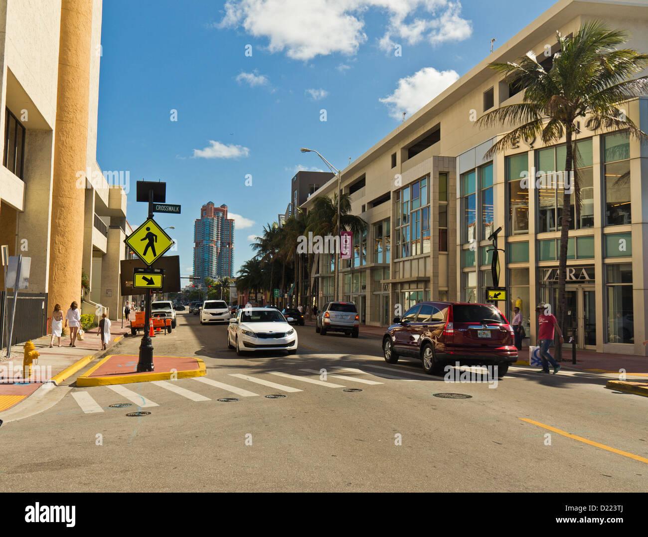 Collins Avenue, Miami Beach District, Miami, Florida, United States Stock Photo