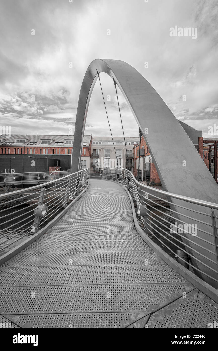 bridge over electric wharf coventry canal - Stock Image