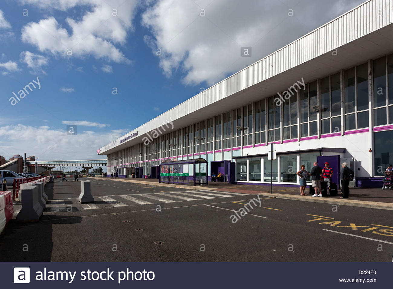 The Main Terminal Building, Glasgow Prestwick Airport, Prestwick, South Ayrshire. Stock Photo