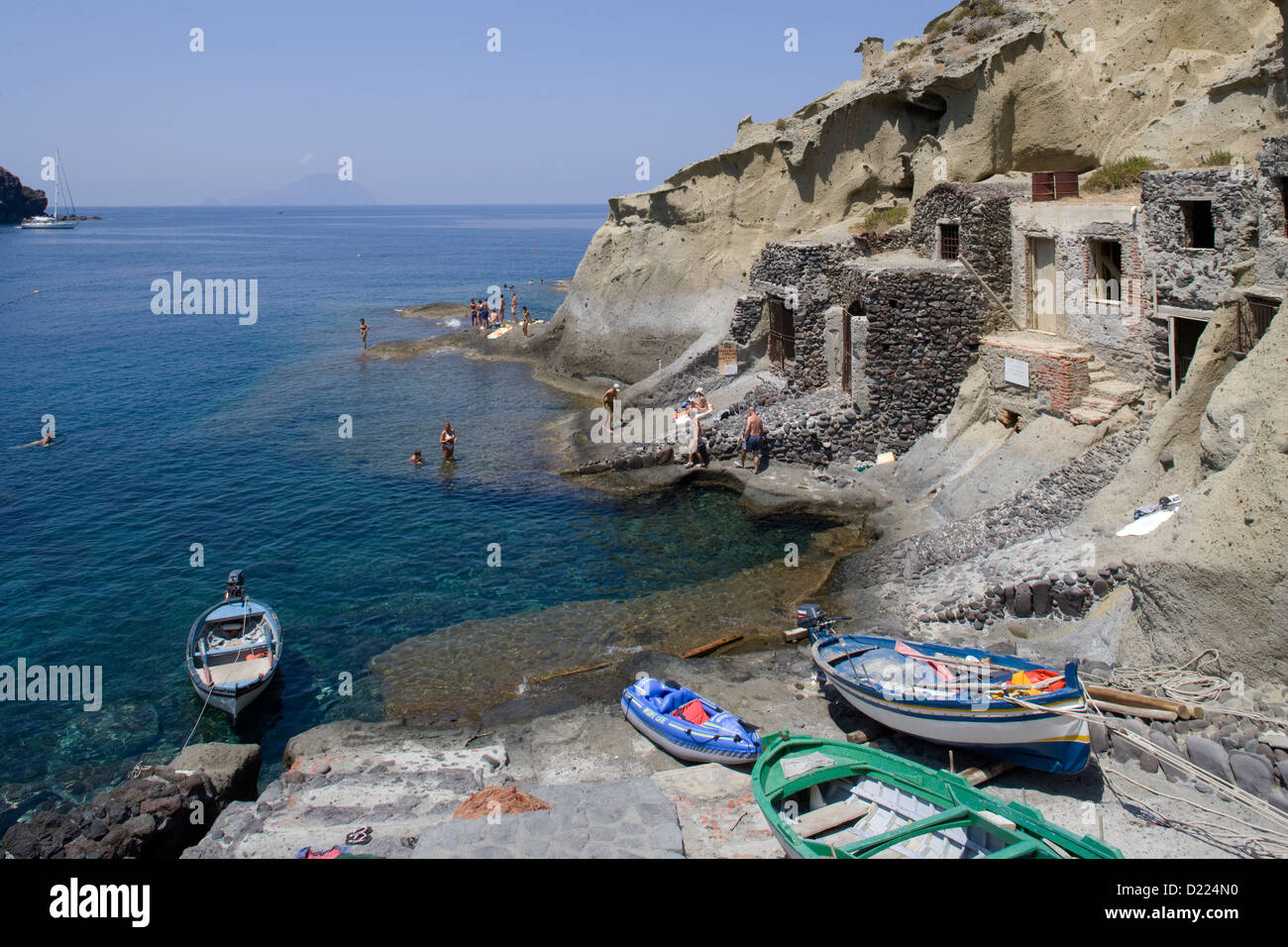 The Aeolian Islands: Salina - Pollara 'beach' - Stock Image