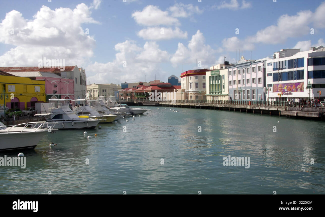 the Waterfront in Bridgetown, Barbados - Stock Image