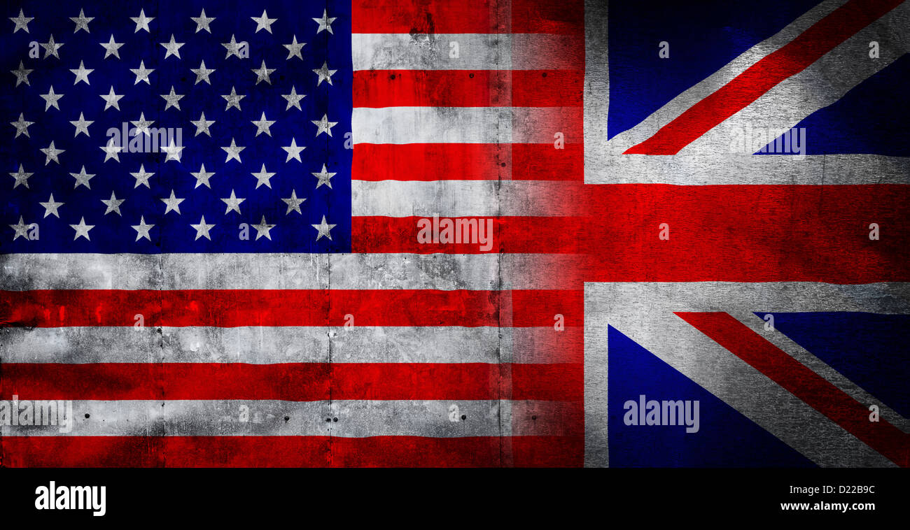 american flag and union jack flag montage with metal textured stock photo 52913208 alamy. Black Bedroom Furniture Sets. Home Design Ideas