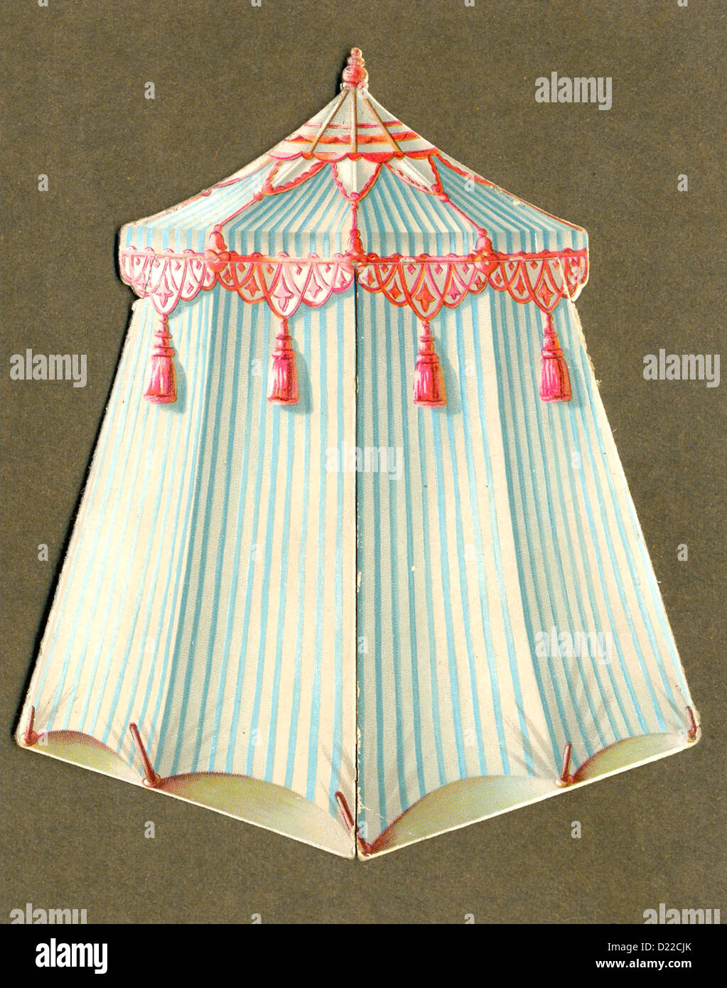 Victorian die cut greeting card shaped as turkish tent stock photo victorian die cut greeting card shaped as turkish tent m4hsunfo