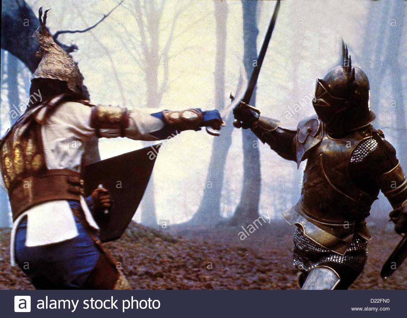 Duell Der Besten  Paladini, I  Im Mittelalter führen Christen und Mauren erbitterte Kämpfe gegeneinander - Stock Image