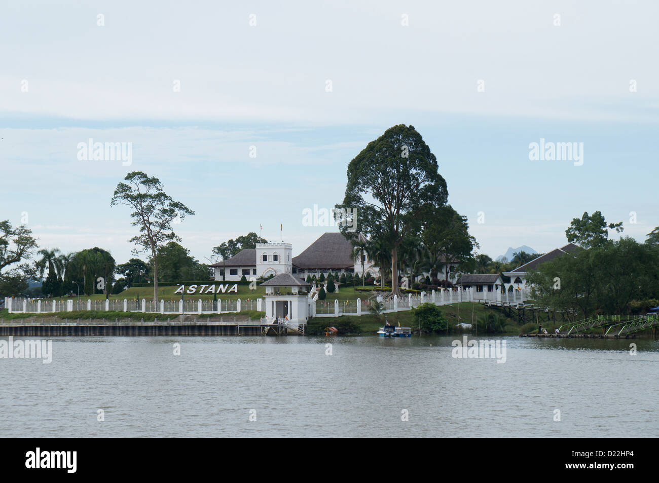 Astana palace in Kuching, Sarawak, opposite Kuching Waterfront, official residence of the Sarawak governor - Stock Image