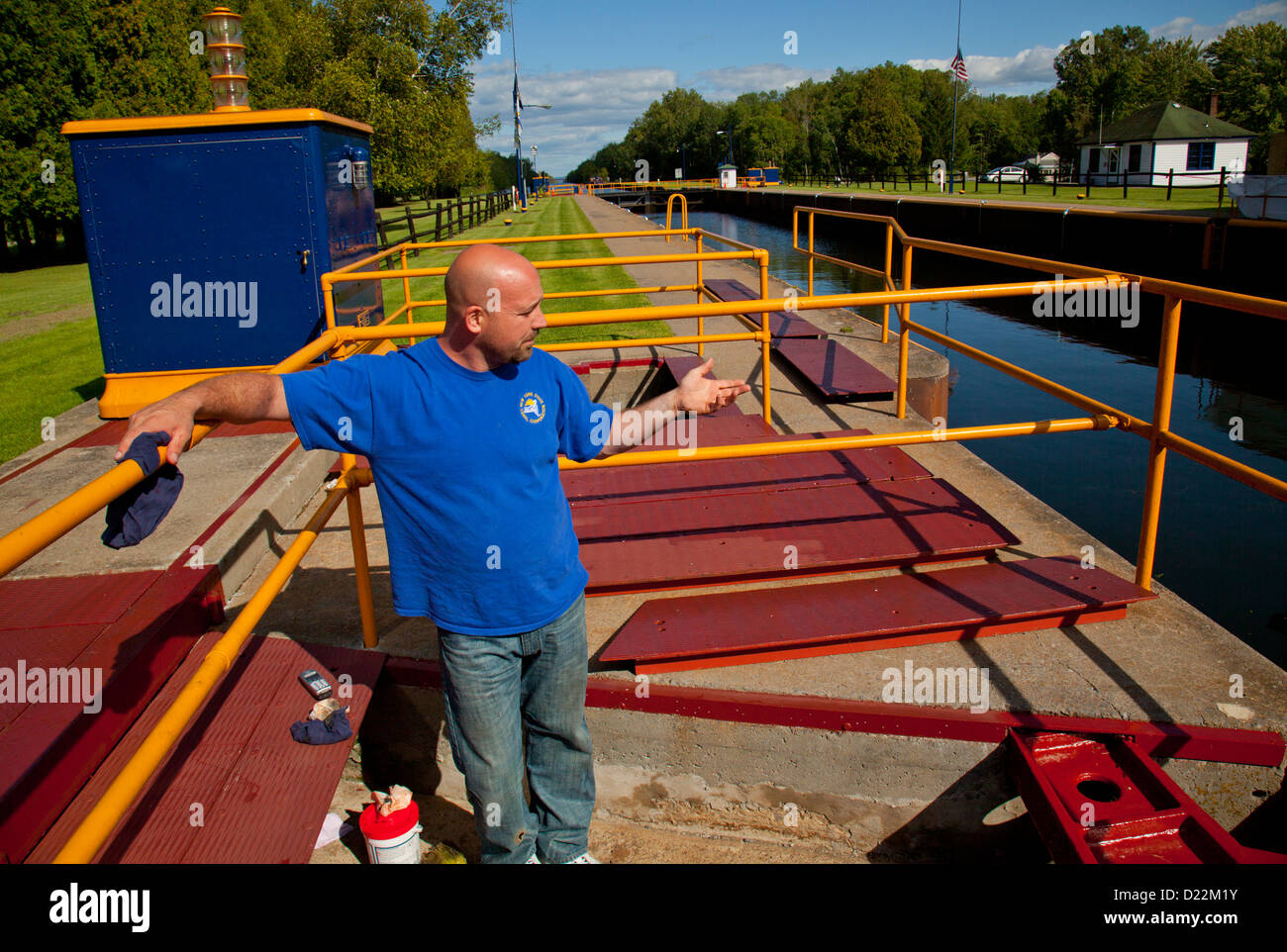 Erie Canal lock E21 - Stock Image