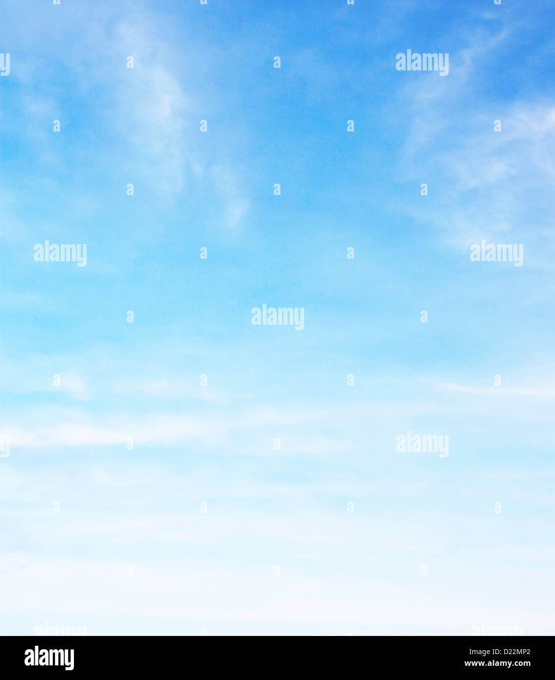 Blue sky with lot of fluffy clouds Stock Photo