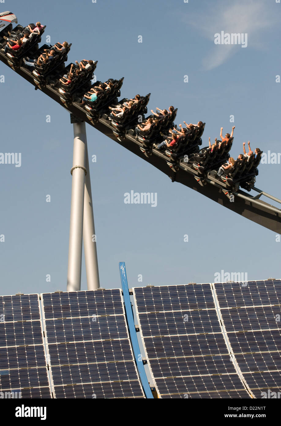 Rust, Germany, the Silver Star at Europa-Park Rust - Stock Image