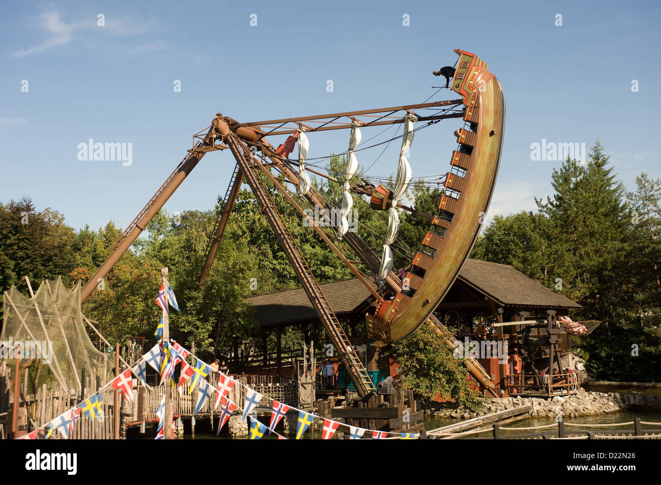 Rust, Germany, giant swing boat at Europa-Park Rust - Stock Image