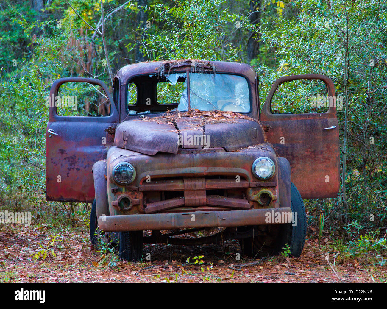 Old rusty broken down junk trucks Stock Photo: 52921378 - Alamy