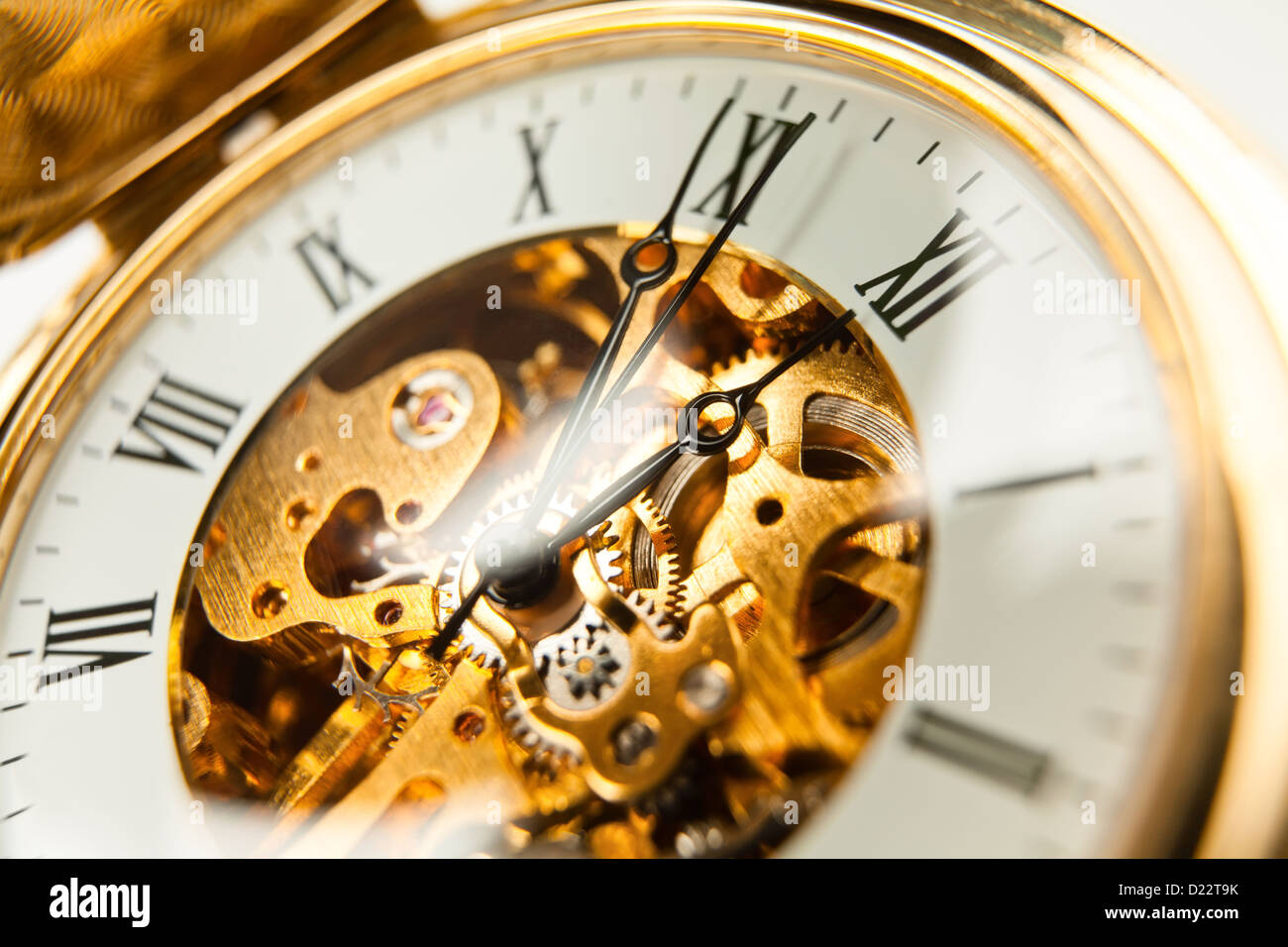 watch pocket full frame closeup - Stock Image