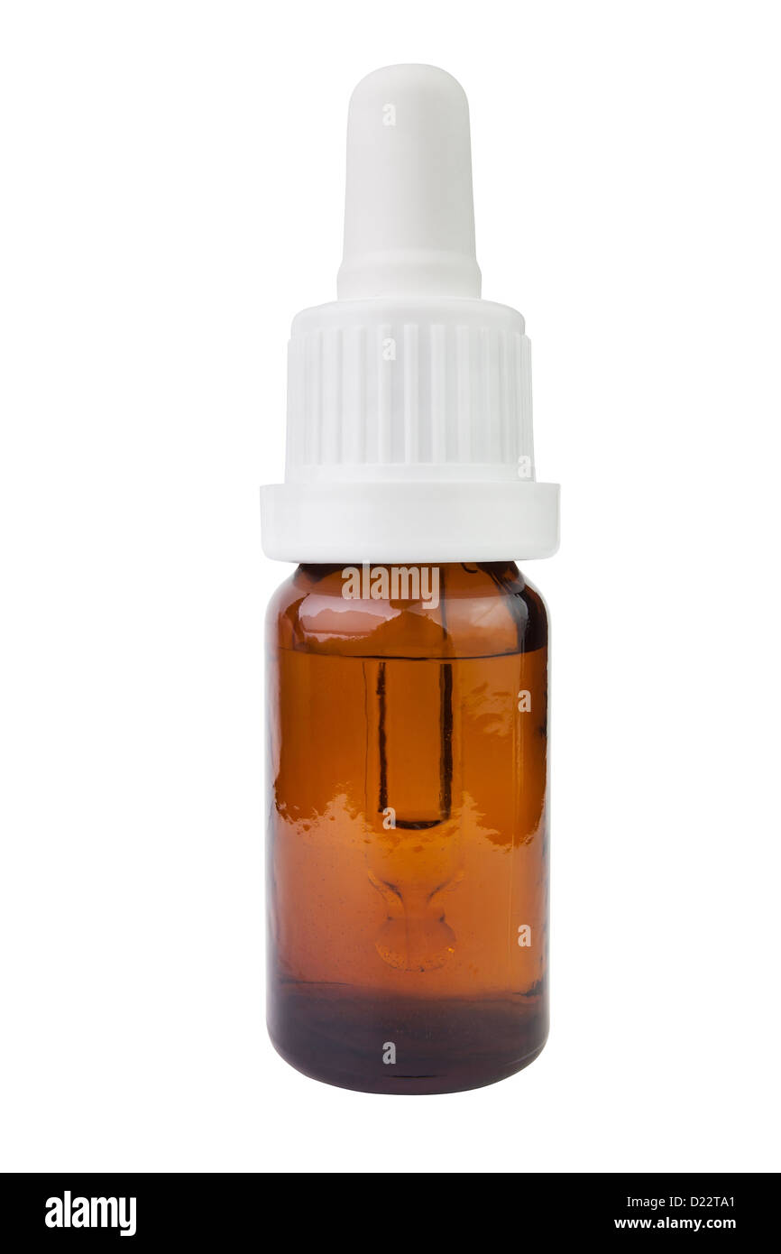 nasal drops bottle on white background Stock Photo