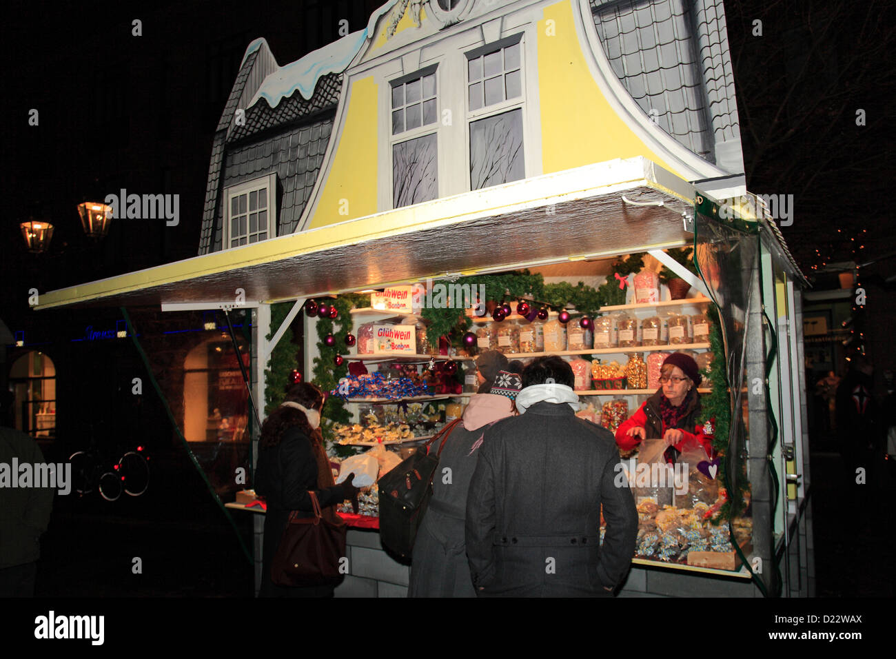 Goods And Stalls Christmas Markets Altstadt Old Town Stock Photo