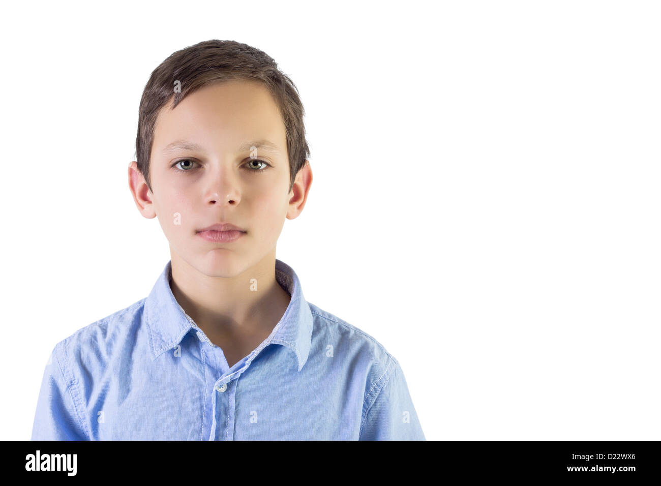 Portrait of a real kid. - Stock Image