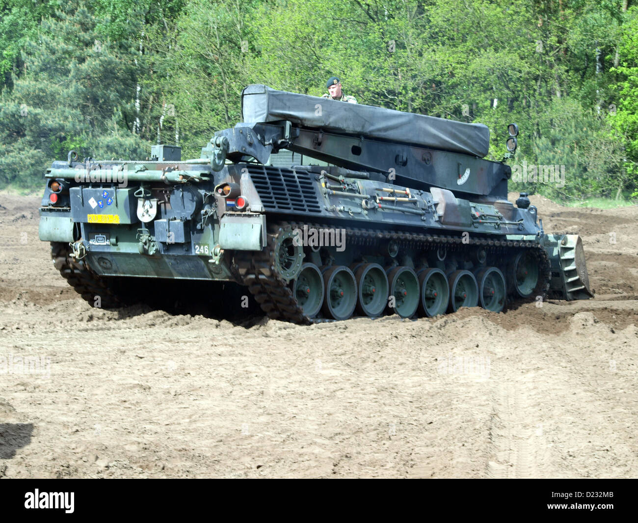Army Open Day 2012 in the Netherlands Oirschot, Leopard 1 ARV tank Stock Photo