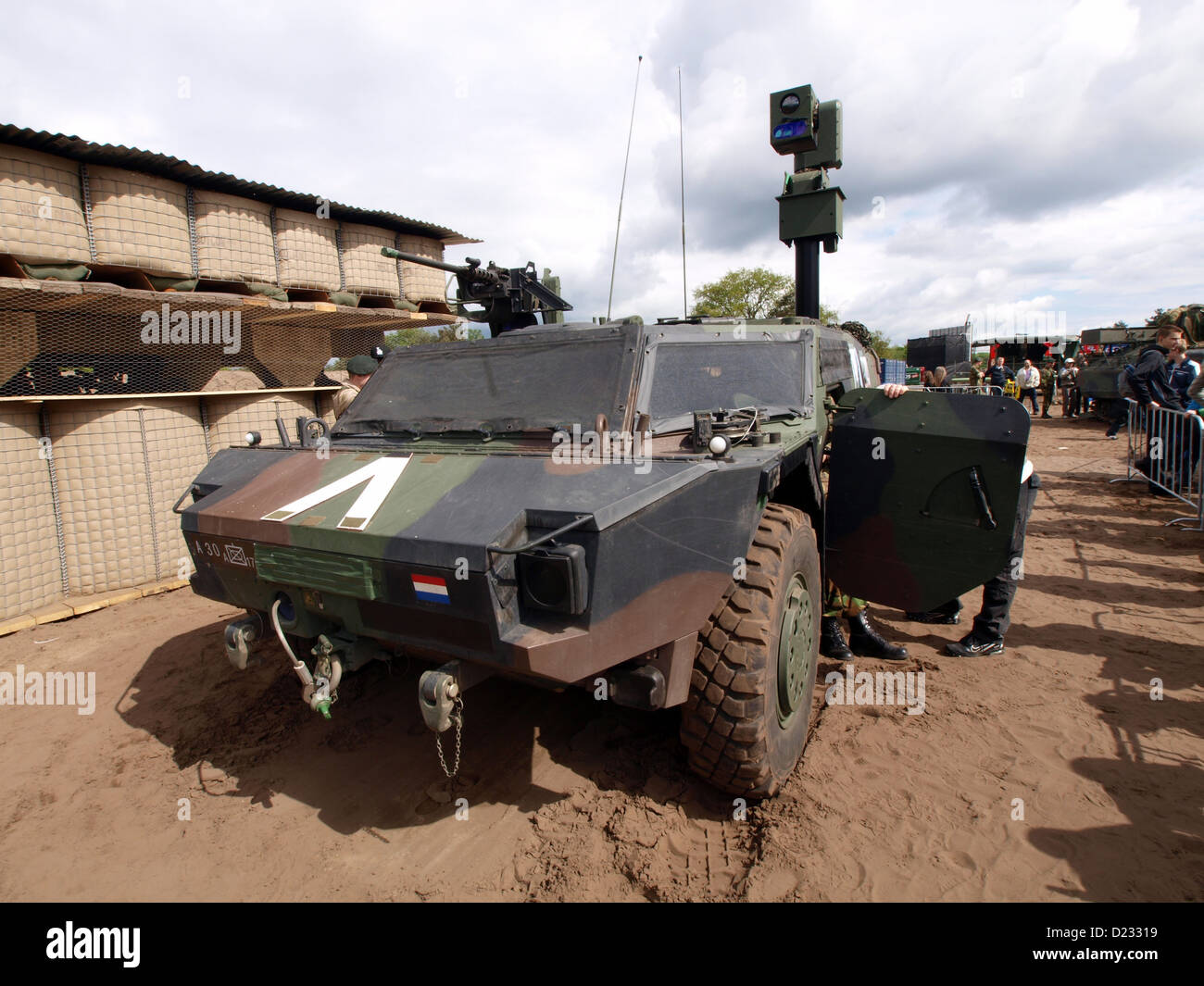 Army Open Day 2012 in the Netherlands Oirschot,Fennek Forward Observer (VWWRN) - Stock Image