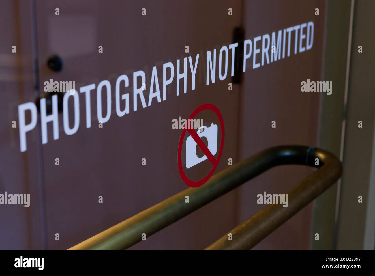 No photography sign - Stock Image