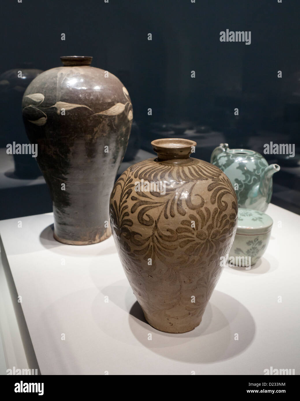Korean stoneware jars from the Goryeo period, 12th century - Stock Image
