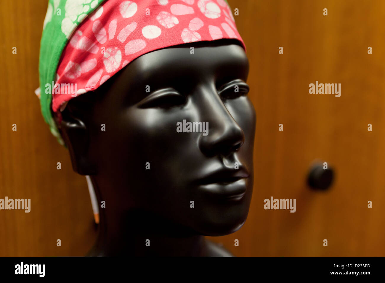 Black mannequin head - Stock Image