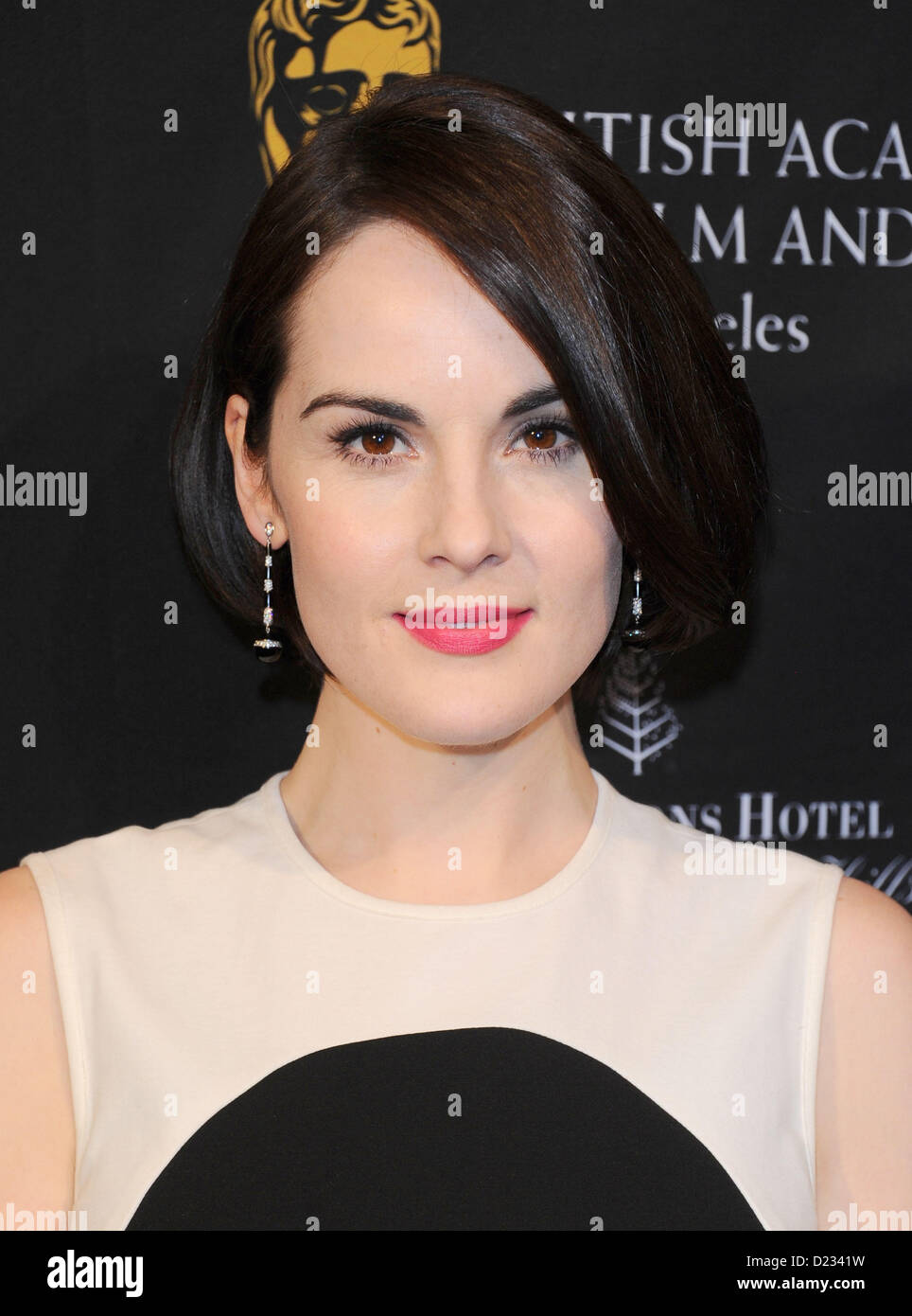 Michelle Dockery arrives at the BAFTA awards season tea party in Beverly Hills, America, January 12th 2013 - Stock Image