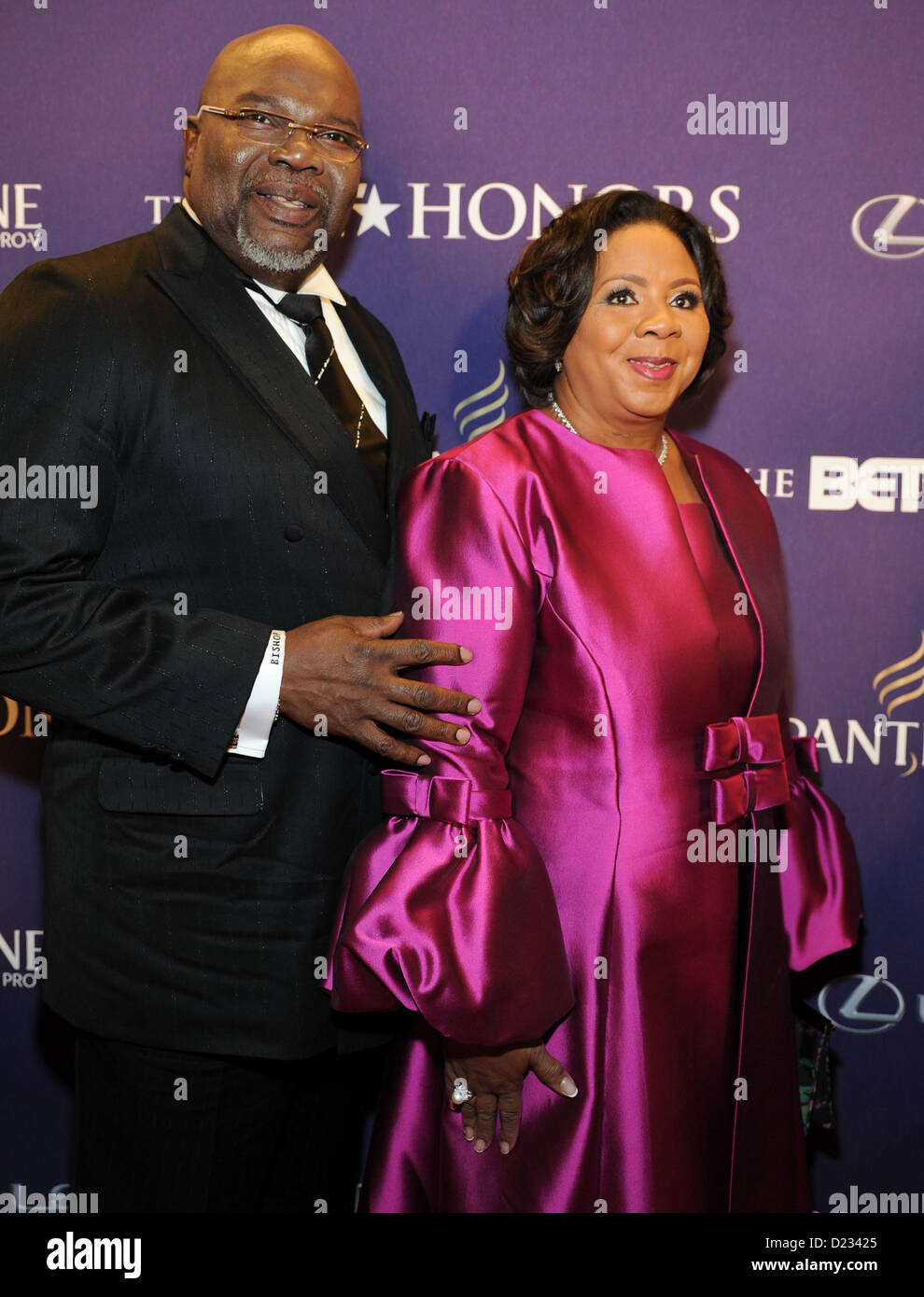 Bishop T D Jakes Honoree Wife Stock Photos & Bishop T D Jakes