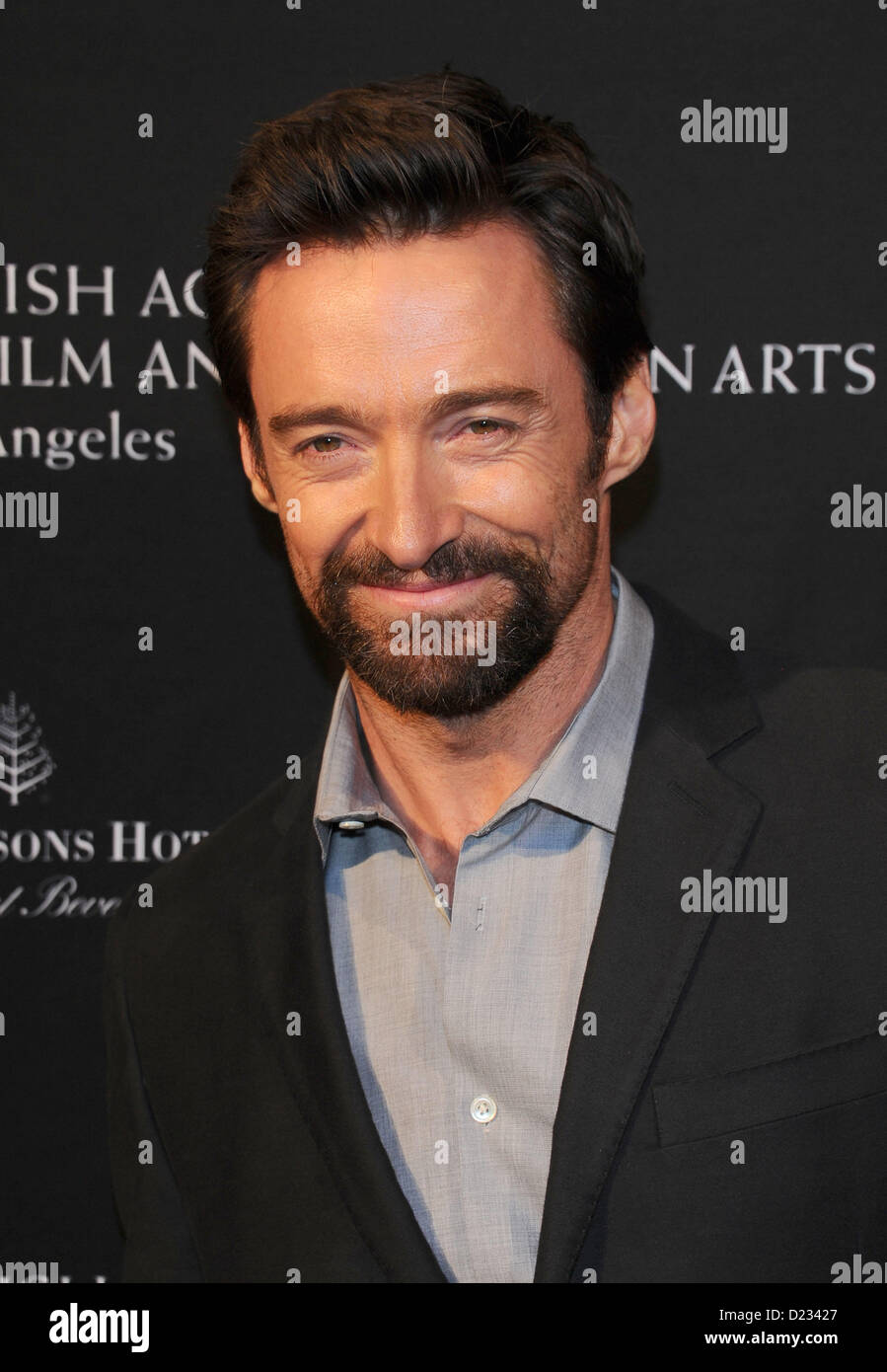 Hugh Jackman arrives at the BAFTA awards season tea party in Beverly Hills, America, January 12th 2013 - Stock Image