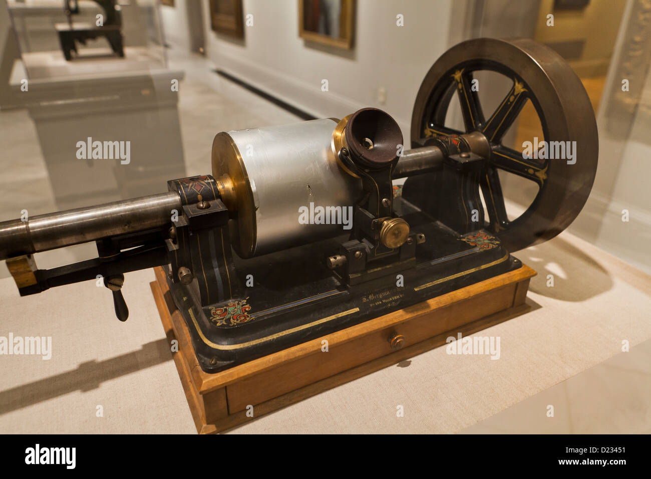Thomas Edison's tin-foil phonograph - Stock Image